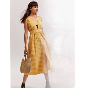 Urban Outfitters Yellow Long Striped Dress